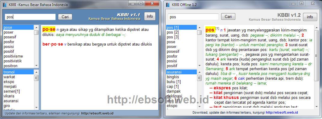 kbbi offline 1.1 vs 1.2