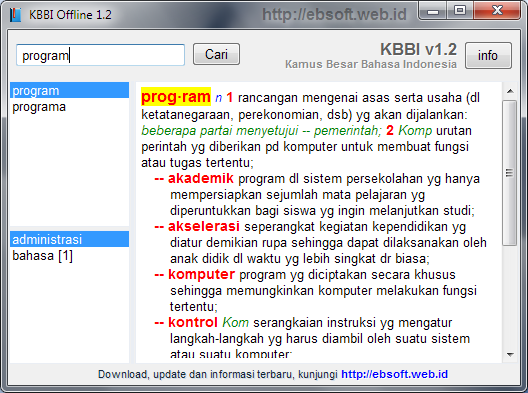 Kbbi indonesian dictionary version 12 offline unlimited22 after i check for the word alienation the results are shown but for the word please and post does not appear in search results on top stopboris Choice Image