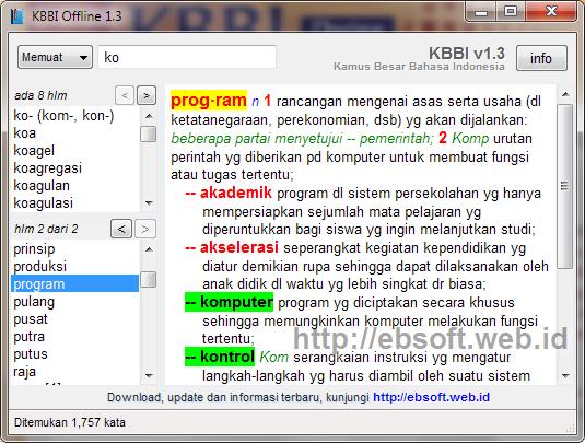 KBBI Offline versi 1.3