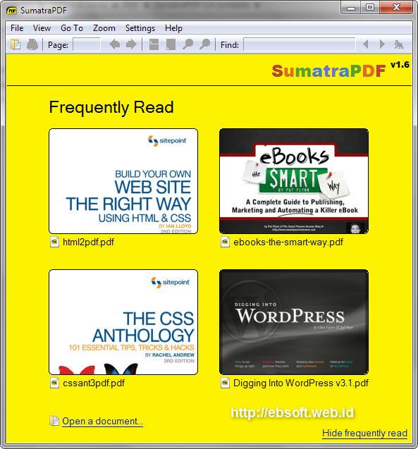 joining files in sumatra pdf
