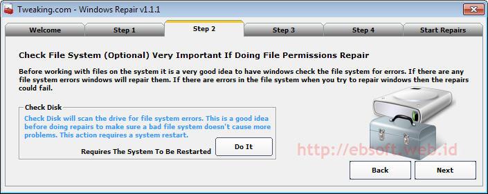Memperbaiki kerusakan Windows dengan Windows Repair – ebsoft