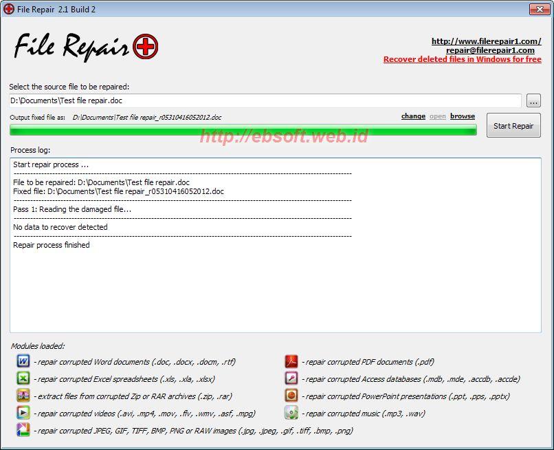 Memperbaiki file atau dokumen rusak dengan File Repair – ebsoft