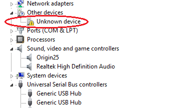 device-manager-unknown-device